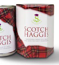 scotch haggis tin in a box